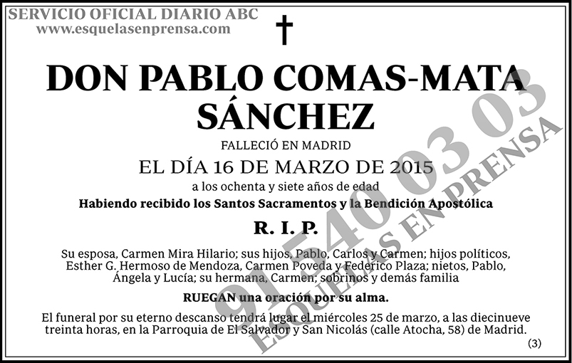 Pablo Comas-Mata Sánchez
